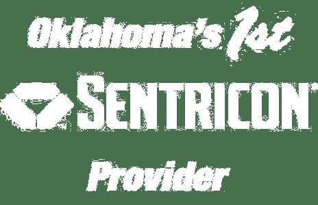 Oklahoma's 1st Sentricon Provider logo in white