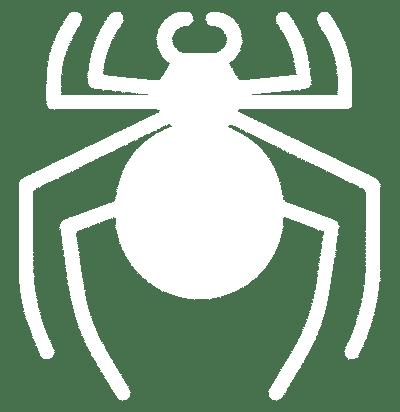 White spider graphic